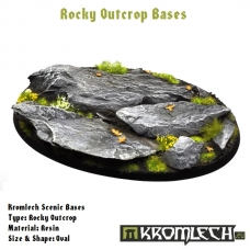 Rocky Outcrop bases - oval 105mm