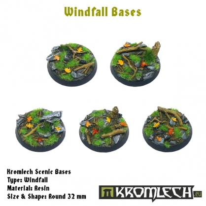 Windfall bases - round 32mm