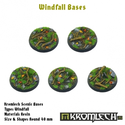 Windfall bases - round 40mm