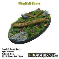 Windfall bases - oval 75mm