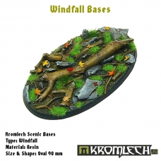 Windfall bases - oval 90mm