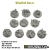 Windfall bases - round 25mm