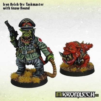 [Warhammer 40,000] Les clans Orks Iron-reich-orc-taskmaster-with-gnaw-hound