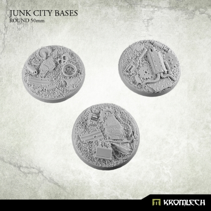 Junk City Bases - round 50mm