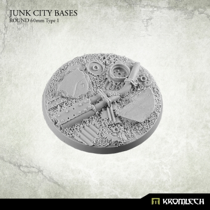 Junk City Bases - round 60mm 1