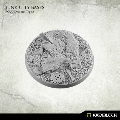 Junk City Bases - round 60mm 3