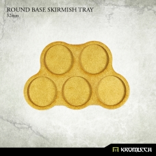 Round Base Skirmish Tray 32mm (5 sets)