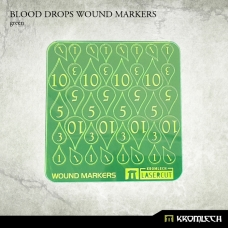 Blood Drops Wound Markers [green]