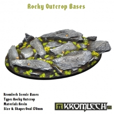 Rocky Outcrop bases - oval 170mm