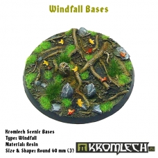 Windfall bases - round 60mm 3