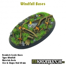 Windfall bases - oval 60mm