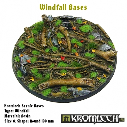 Windfall bases - round 100mm