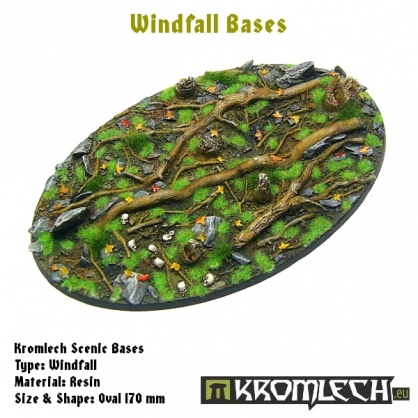 Windfall bases - oval 170mm