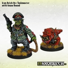 Iron Reich Orc Taskmaster with Gnaw Hound