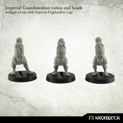 Imperial Guardswoman torsos and heads