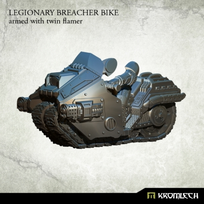 Legionary Breacher Bike: armed with twin flamer