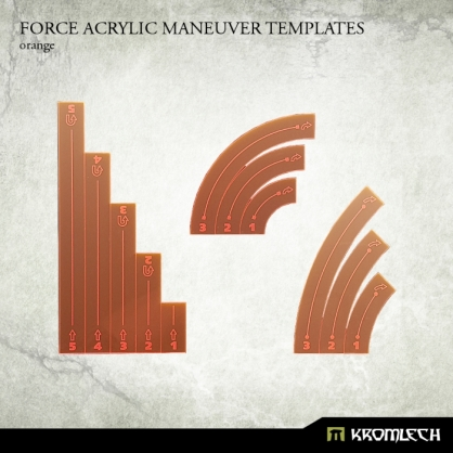 Force Acrylic Maneuver Templates [orange]