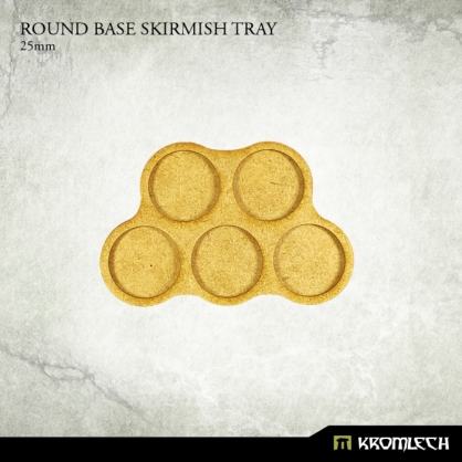 Round Base Skirmish Tray 25mm (6 sets)