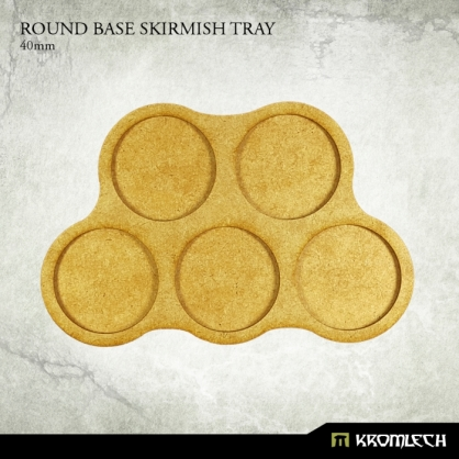 Round Base Skirmish Tray 40mm (3 sets)