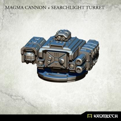 Magma Cannon + Searchlight Turret