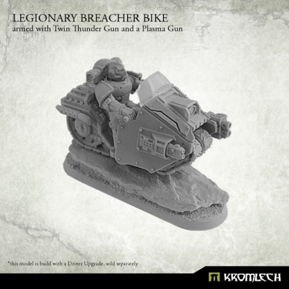 Legionary Breacher Bike armed with twin thunder gun and plasma gun