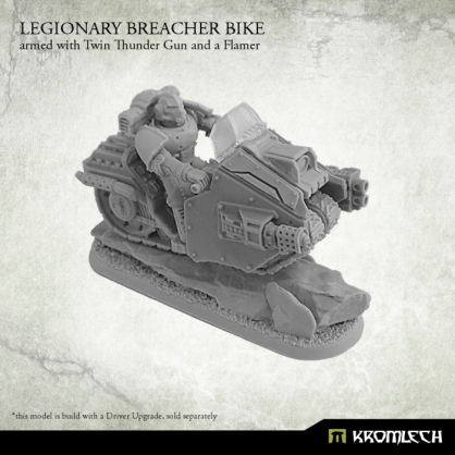 Legionary Breacher Bike armed with twin thunder gun and flamer