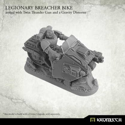 Legionary Breacher Bike armed with twin thunder gun and gravity distorter