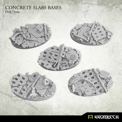 Concrete Slabs Bases: Oval 75mm