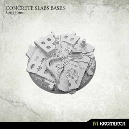 Concrete Slabs Bases: Round 60mm Pattern 1
