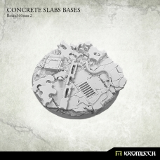 Concrete Slabs Bases: Round 60mm Pattern 2