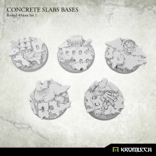 Concrete Slabs Bases: Round 40mm Set 1