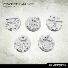 Concrete Slabs Bases: Round 40mm Set 2