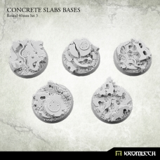 Concrete Slabs Bases: Round 40mm Set 3