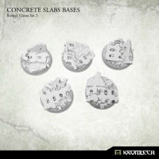 Concrete Slabs Bases: Round 32mm Set 3