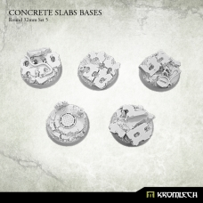 Concrete Slabs Bases: Round 32mm Set 5