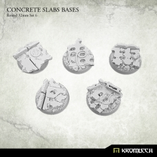 Concrete Slabs Bases: Round 32mm Set 6