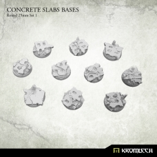 Concrete Slabs Bases: Round 25mm Set 1