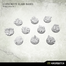 Concrete Slabs Bases: Round 25mm Set 2
