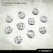 Concrete Slabs Bases: Round 25mm Set 3