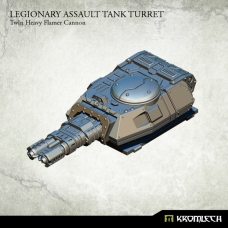 Legionary Assault Tank Turret: Twin Heavy Flamer Cannon