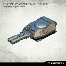 Legionary Assault Tank Turret: Twin Heavy Magma Cannon