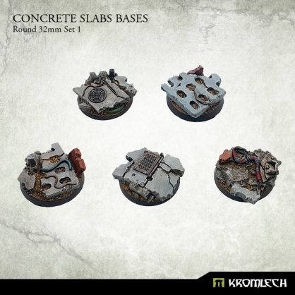 Concrete Slabs Bases: Round 32mm Set 1