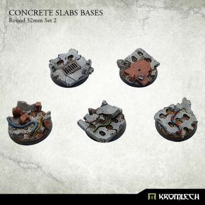 Concrete Slabs Bases: Round 32mm Set 2