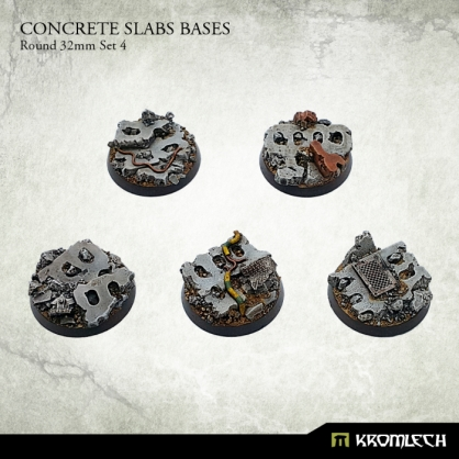 Concrete Slabs Bases: Round 32mm Set 4