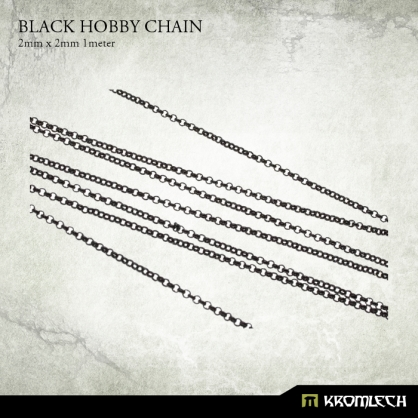 Black Hobby Chain 2mm x 2mm (1 meter)