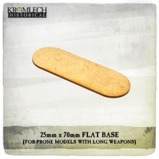 25mm x 70mm Flat Bases for Prone Models (1,5mm HDF)
