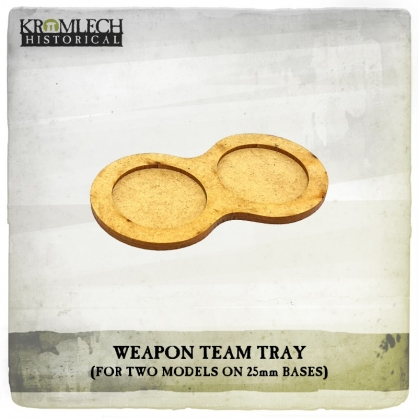 Weapon Team Tray (for two models on 25mm round bases)