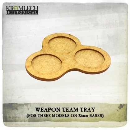 Weapon Team Tray (for three models on 25mm round bases)