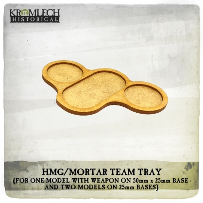 HMG/Mortar Team Tray (for three models and weapon)