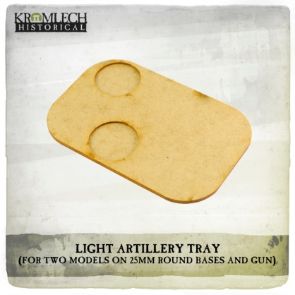 Artillery Tray (for two models on 25mm round bases and gun)